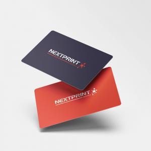 Cartão de Visita em PVC PVC 0,76mm 8,5x5,4 cm 4x4(Frente e Verso Colorido) Verniz Fosco