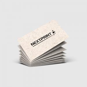 Cartão de Visita Reciclato Laminação Papel Reciclato 240g 9x10 (Duplo) 4x4(Frente e Verso Colorido) Laminação Fosca BOPP