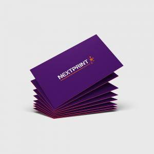 Cartão de Visita Verniz Total Frente Papel Couchê 300g 9x10 (Duplo) 4x4(Frente e Verso Colorido) Verniz UV Total Frente