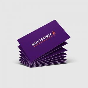 Cartão de Visita Verniz Total Frente e Verso Papel Couchê 300g 9x10 (Duplo) 4x4(Frente e Verso Colorido) Verniz UV Total Frente e Verso