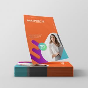Folhetos Supremo 300g UV Total Supremo 300g 15x10 cm 4x0(colorido frente) UV Total Frente corte reto
